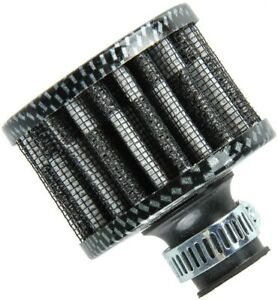 12mm Carbon Air Intake Breather Filter Oil Catch Crankcase Universal Vent Valve