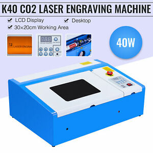 Omtech 40w 12x8 In K40 Co2 Laser Engraving Cutting Machine Engraver Cutter