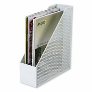 Urban Collection Punched Metal Magazine File White aopart20004wh