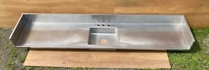 Large 118 Vtg Industrial Mid Century Stainless Steel Old Kitchen Sink 288 21e