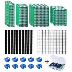 Austor 30 Pcs Double Sided Pcb Board Kit 4 Sizes Circuit Board With 20 Pcs 40
