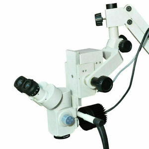 3 Step Table Mount Surgical Dental Microscope White With Free Shipping