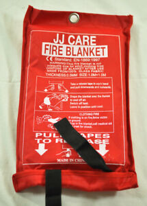 Jj Care Fire Blanket For Fire Suppression Size 1 0m X 1 0m Great For Emergencies