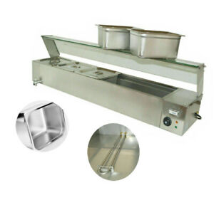 Intsupermai 5 pan Food Warmer Commercial Buffet Warmer Thickened Stainless Type