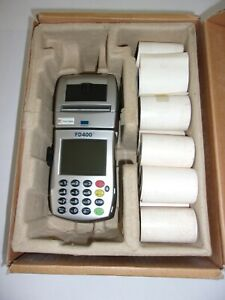First Data Fd 400ti Wireless Credit Card Reader Terminal Thermal Paper Rolls