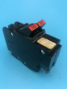Federal Pacific Fpe 15 Amp 2 Pole Circuit Breaker 120 240v Type Nc Nc215 read
