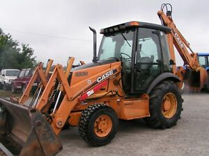 Case 580 M Series 2 Backhoe Loader 4x4 Exhoe 4n1 Front Bucket New Tires 3200hrs
