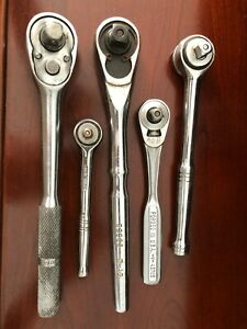 Ratchet Wrenches Craftsman Husky Walden Autocraft 1 4 3 8 1 2 Lot Of 5