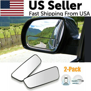 2x 360 Stick On Rear View Auxiliary Blind Spot Mirror Wide Angle Car Truck Suv
