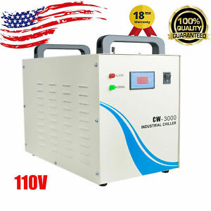 Industrial Water Chiller Cw 3000 For Cnc Laser Engraver Engraving Tool Warranty