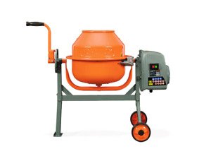 Concrete Mixer 1 6 Cu Ft Compact Portable Electric Rugged Low Profile Height