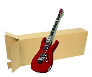 18x6x45 Electric Guitar Shipping Packing Boxes Heavy Duty guitar Not Included