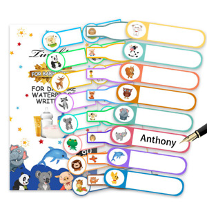 Baby Bottle Labels Self laminating Waterproof Write on Name Stickers Pack Of 80