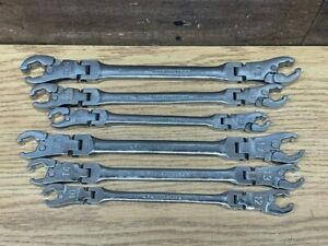 Pre Owned Gearwrench 6 Pc Metric Flare Nut Wrench Set