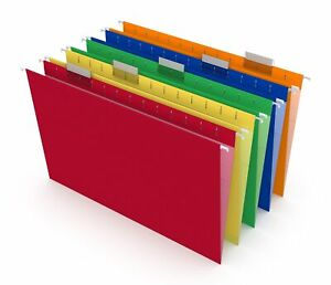 Hitouch Business Services Reinforced Hanging File Folders 5 tab Legal Size