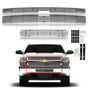 Fits 2011 2014 Chevy Silverado 2500hd 3500hd Billet Grille Grill Combo Insert