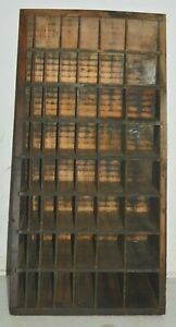 Vintage Printer s Letterpress Furniture Cabinet Ready To Use Or Re purpose