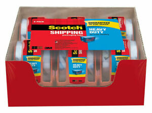 3m Scotch Clear Shipping Packing Tape 2x1000 6 Rolls W dispenser Heavy Duty New