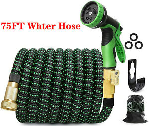 75ft Expandable Garden Hose Flexible Lightweight Water Pipe With10 Function Nozzle