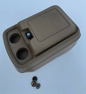80 96 Ford F150 Truck F100 F250 F350 Bronco Center Console Cup Holder Tan Oem