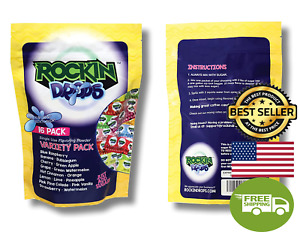 16 Pack Rockindrops Flossine Cotton Candy Sugar Flavoring Powder fruity Flavore
