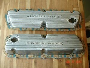1983 85 Mustang Gt Powered By Ford Factory Aluminum Valve Covers E4ze 6582 Fc