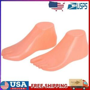 1pair Hard Plastic Adult Feet Mannequin Foot Model Tools For Shoes Display