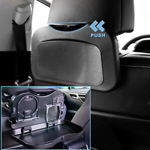 Foldable Car Back Seat Drink Cup Holder Bottle Stand Food Dining Tray Table Pad Fits Rav4