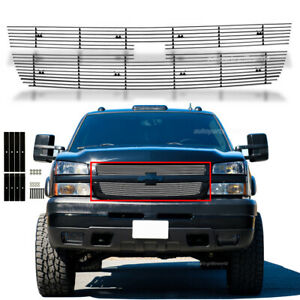 Fits 2005 2006 Chevy Silverado 2500hd 3500 07 Classic Main Upper Billet Grille