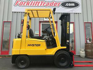 1995 Hyster H40xms 4000lb Pneumatic Tire Forklift Lifttruck With Side Shift