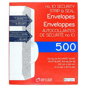 Security Letter Business Envelopes Self Stick 500 Peel Seal Tinted 10 Peel Seal