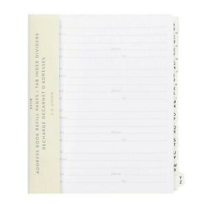 Address Book Refill Pages tab Index Dividers For C r gibson Address Books
