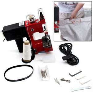Portable Industrial Electric Bag Sewing Machine Closer Sack Stitching Tool 110v