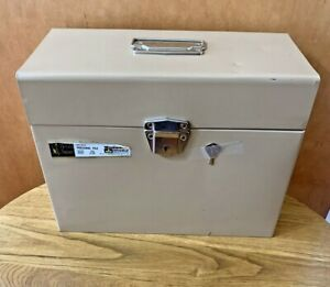 Harold Square Woolworth Tan Metal Security File Locking Box Key Usa Excelsior