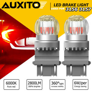 Pair 3157r Red Led Brake Stop Signal Tail Light Bulbs For Ford F 150 F 250 F 350
