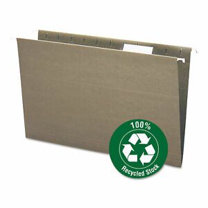 Smead 100 Recycled Hanging File Folders Legal Green 25 box 65061