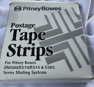 Genuine Pitney Bowes Box 625 0 Postage Meter Tape Strips 150 Sheets 300