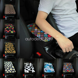 Soft Auto Center Console Protector Pad Flower Printing Armrest Cushion For Car