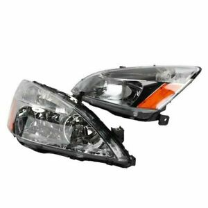 2pcs Front Left Right Headlights For Honda Accord 2003 2004 2005 2006 2007 Fits 2003 Honda Accord Coupe