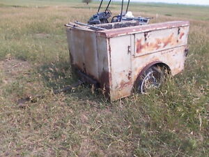 Vintage Chevy Dodge Ford Short Box Pickup Truck Body Dually 6 Utility Bed As Is