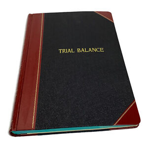 Vintage Record Ledger B p Boorum Pease Trial Balance 1431 New Old Stock