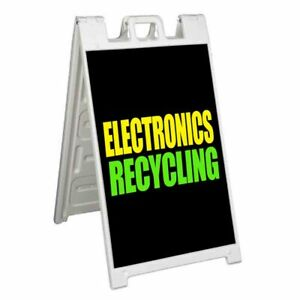 Electronics Recycling Signicade 24x36 Aframe Sidewalk Sign Banner Decal