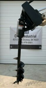 New Wolverine Skid Steer Hydraulic Auger Attachment Post Hole Digger Bobcat Cat