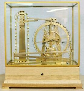 Rare Vintage 8 Day Automation Waterwheel Industrial Mystery Ball Table Clock
