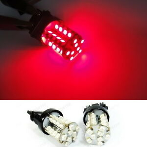 A Pair Of 3157 3156 3457 Red 40 Smd Led Brake Light High Power Bulb For Cadillac