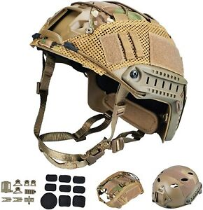 Tactical Airsoft Paintball Fast Helmet with Multicam Helmet Cover PJ Type $59.97