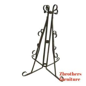 Antique Wrought Iron Scroll Flag Pole Music Stand Ceremonial