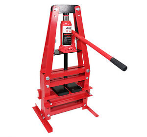 Dragway Tools 6 Ton Benchtop Hydraulic A Frame Shop Press With Press Plates