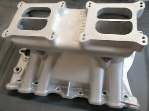 Offenhauser 455 Olds Oldsmobile Intake Manifold Tunnel Ram Dual Quad 442 W30 2x4