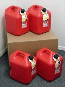 5 Gallon Gas Can 4 Pack Spill Proof Fuel Container New Clean Boxed